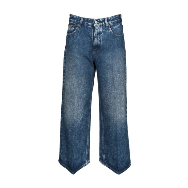 Mm6 Maison Margiela jeans cropped jeans cropped high blue