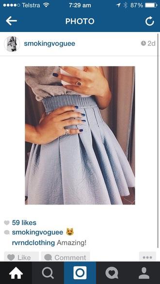 skirt blue tennis skirt pleated pastel