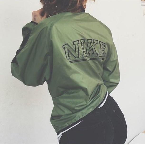army green nike jacket