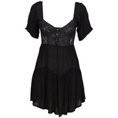black dress,lace,short sleeve,dress