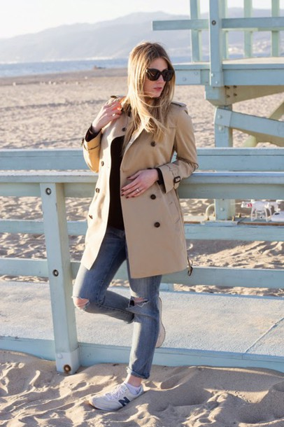 devon rachel blogger coat shirt jeans sunglasses shoes bag