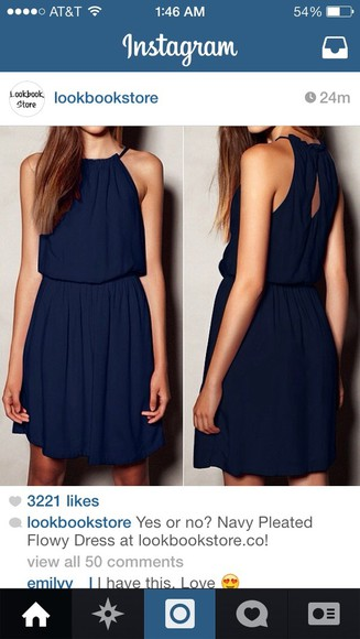 lookbook dress blue dress