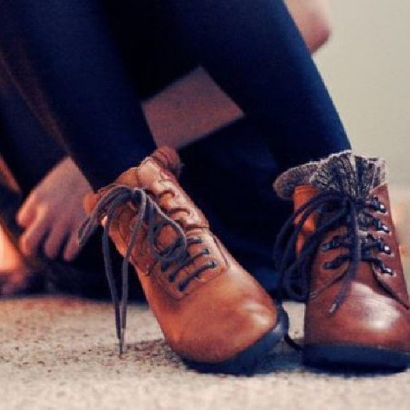 vintage autumn, winter shoes vintage boots brown shoes winter boots