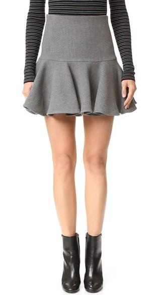 skirt wool charcoal