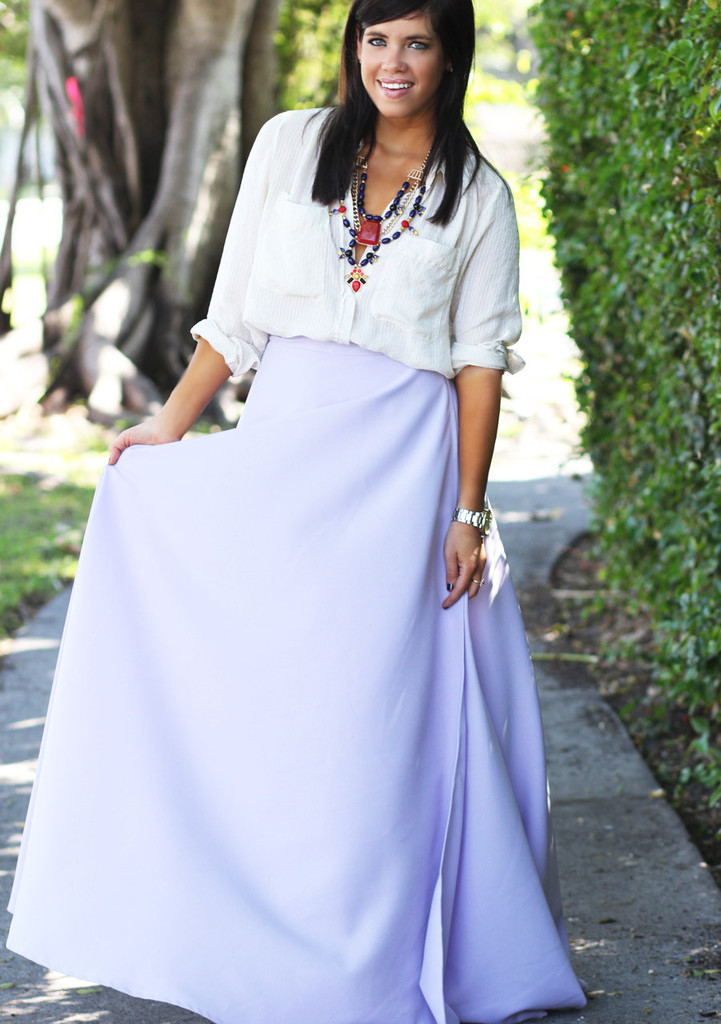 Lavender Dreams Maxi Wrap Skirt - Furor Moda - Tops - Dresses - Jackets - Vintage