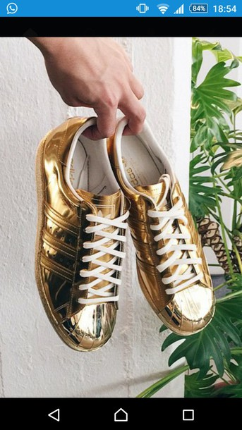 shoes gold shoes goldie adidas shoes gold sneakers superstar adidas  superstars white sneakers lovely gold girls