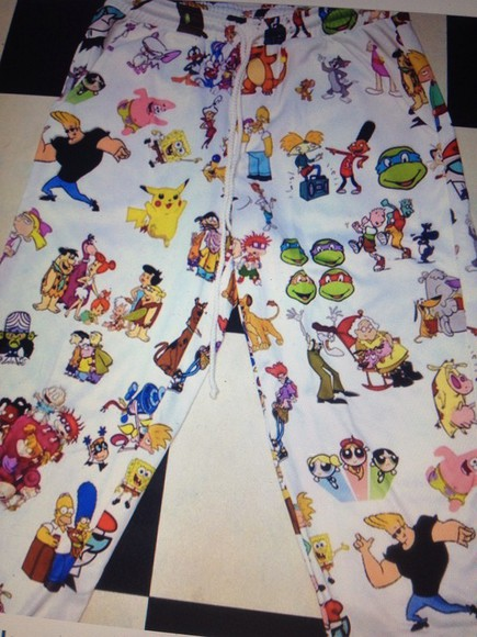 pokemon pajamas cartoon network spongebob cartoons