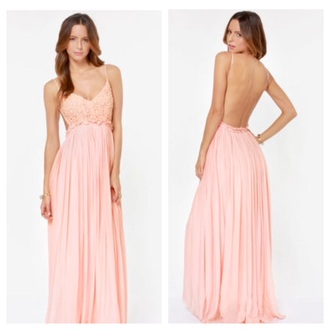 dress pink dress crochet maxi dress elegant dress pretty dress