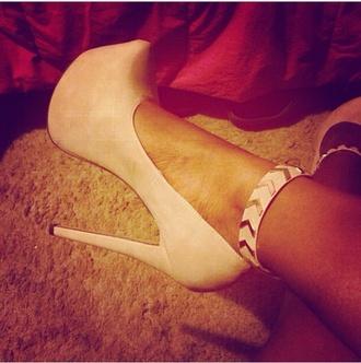 shoes pumps ankle strap multicolor
