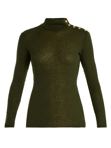 Balmain sweater khaki