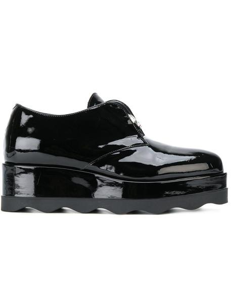 Albano women embellished platform boots leather black shoes