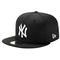 New era mlb 59fifty black & white basic cap - men's at eastbay