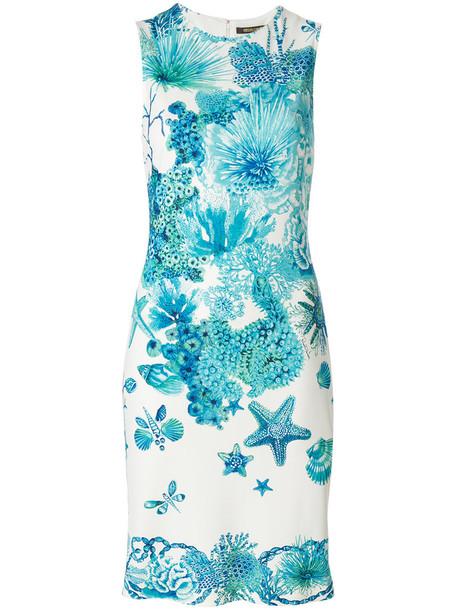 Roberto Cavalli dress sea women spandex blue