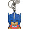 Moschino - transformer bear key ring - women - leather - one size, blue, leather