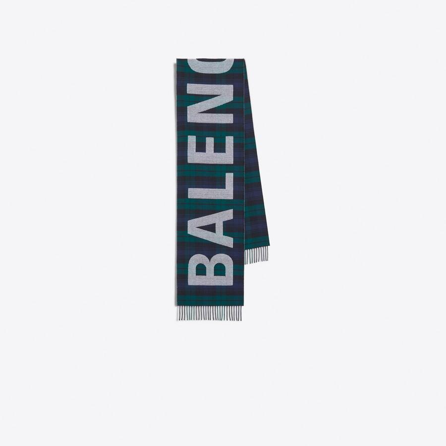 Women's NAVY/GREEN  Balenciaga Scarf  | Balenciaga