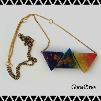 jewels ovoono necklace unique jewelry alternative jewelry handmade necklace handmde colorful colorful necklace colorful jewelry ceramic original art design acrylic croatia