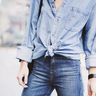 shirt nastygal denim jeans vintage after party oversized button up 28719 topshop