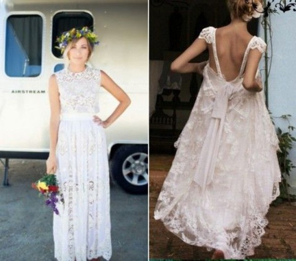 wedding dress wedding clothes boho