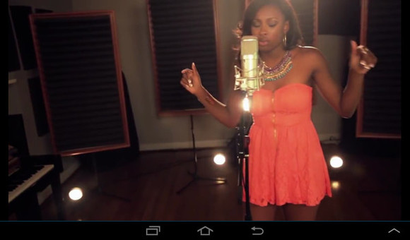 dress coco jones orange dress singer