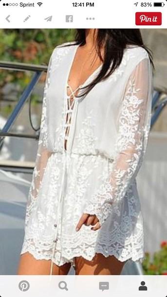 dress lace dress boho chic jumpsuit selena gomez jumpsuitt white lace croquet boho bohemian romper white romper white lace selena gomez