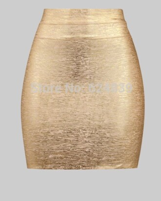 Metallic Gold Pencil Skirt - Shop for Metallic Gold Pencil Skirt ...