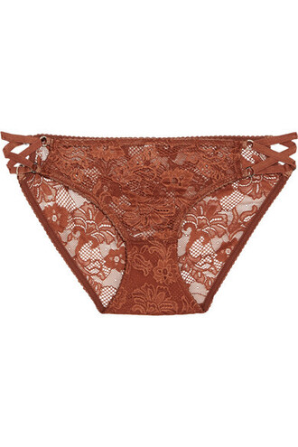 lace brown underwear