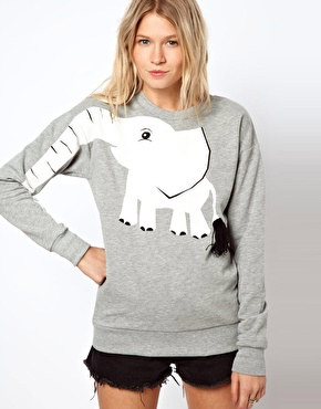 ASOS | ASOS Sweatshirt with Elephant Print at ASOS