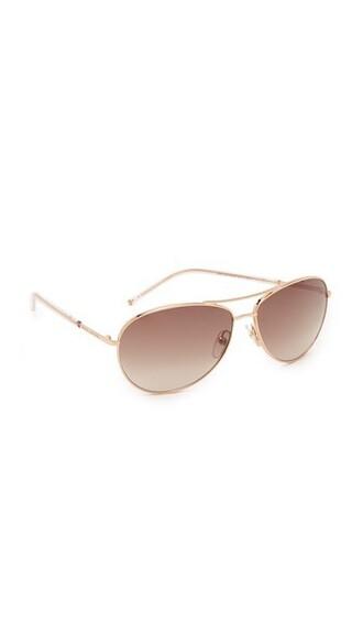 sunglasses aviator sunglasses gold brown copper