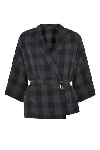 jacket kimono jacket navy blue