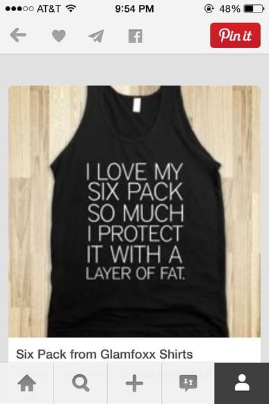 funny funny shirt six pack
