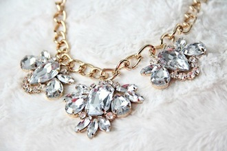 necklace jewels gold collar diamonds crytals
