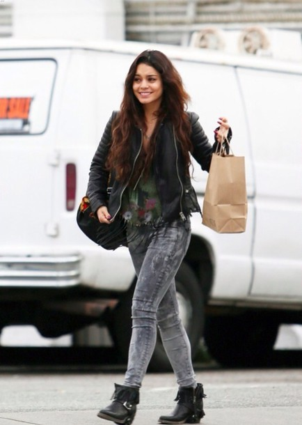 Jeans: grey, black, vanessa hudgens, hudgens, couple, austin ...