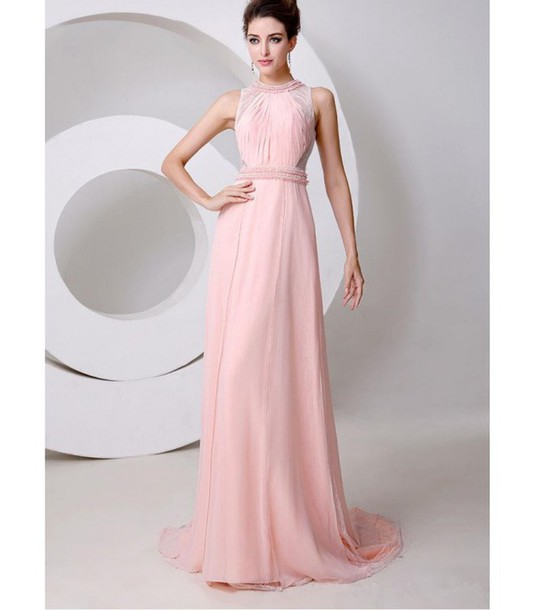 dress elegantes abendkleid rosa abendkleid abendkleid lang r ckenfreies abendkleid wheretoget