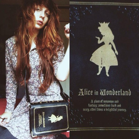 alice in wonderland bag tumblr wow tumblr girl nadia esra fashion magic