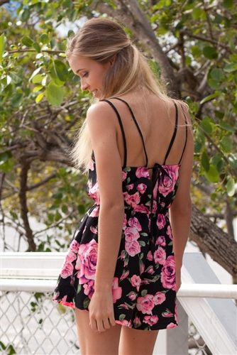 Shop Fashion Avenue - Roses Are Pink Playsuit