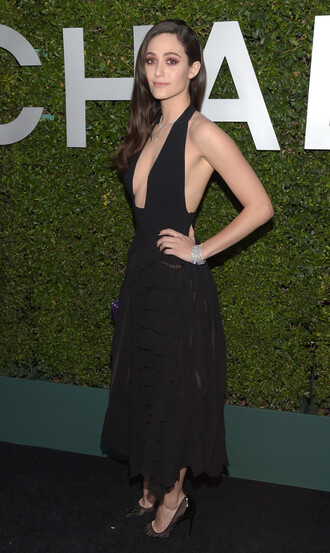 dress emmy rossum black prom dress