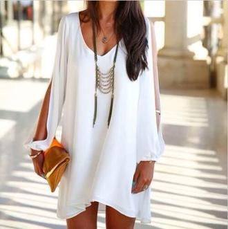 white dress bohemian dress boho style black dress lace backless chiffon dress flowy hippie style