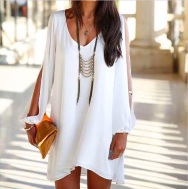 White Lace Dress White Dress Bohemian Dress