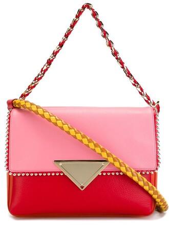 bag shoulder bag purple pink