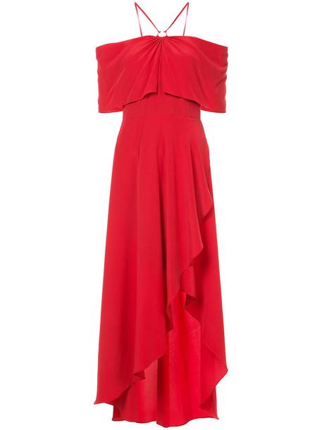 Yigal Azrouel dress women cold silk red