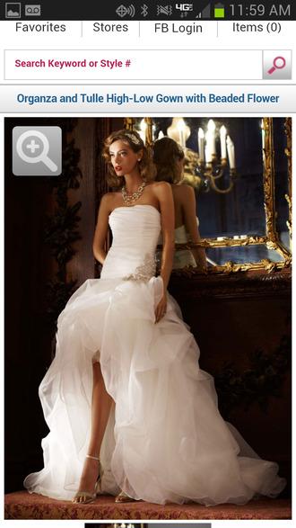 dress wedding dress mermaid wedding dresses high-low dresses white strapless wedding clothes