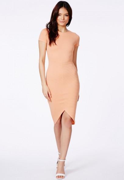 Radima Ribbed Midi Dress With Curved Hem - Dresses - Midi Dresses - Missguided