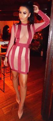 dress,dream it wear it,clothes,stripes,long sleeves,long sleeve dress,see through,see through dress,mesh,mesh dress,burgundy,burgundy dress,nude,nude dress,bodycon,bodycon dress,party dress,sexy party dresses,mini,mini dress,sexy dress,party outfits,sexy outfit,summer dress,summer outfits,fall dress,fall outfits,classy dress,elegant dress,cocktail dress,cute,cute dress,girly,girly dress,date outfit,birthday dress,summer holidays,romantic summer dress,romantic dress,clubwear,club dress,celebrity style,celebrity,celebstyle for less,blogger,dope,colorblock,colorblock dress,wedding guest,wedding clothes,engagement party dress