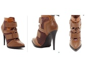 shoes,tan,booties,boots,lace up,camel,leather,mesh,high heels boots,ankle boots