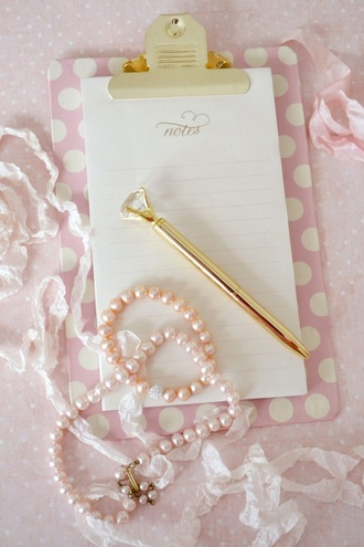 home accessory pretty girly pencils jewel