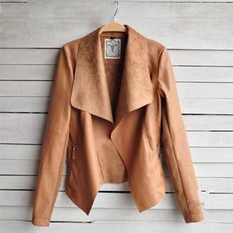 brown jacket leather jacket fashion warm
