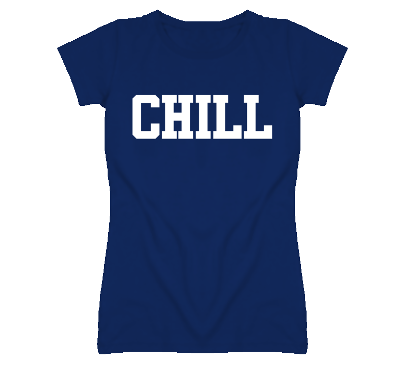 Chill Funny Popular Navy T Shirt