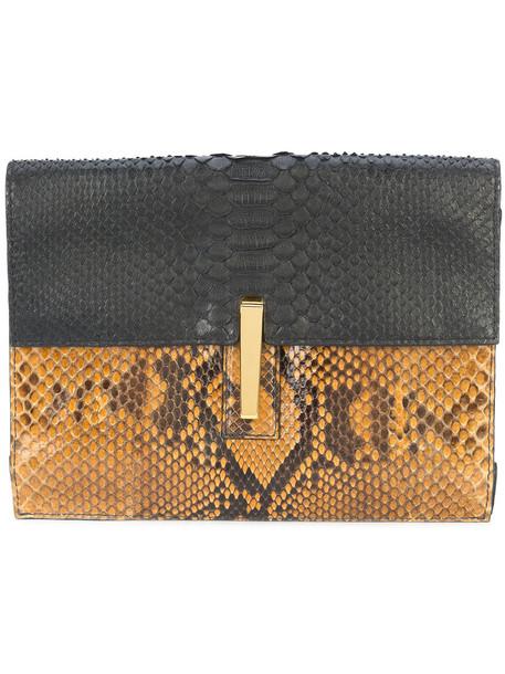 Hayward women soft bag clutch suede black silk velvet