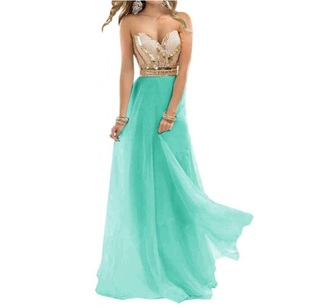 dress prom dress long prom dress teal dress