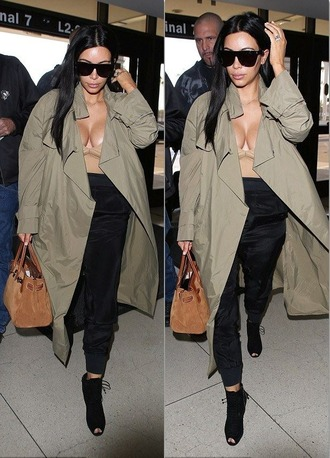 pants coat kim kardashian booties